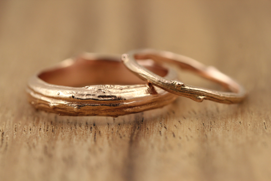 Natural Rose Gold Wedding Rings Abracadabra Jewelry Gem Gallery