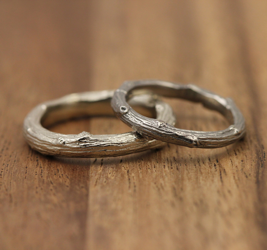 Branch ring and twig ring by Pippa Jayne Designs