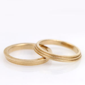 Modern 14K Yellow Gold Ring Guards