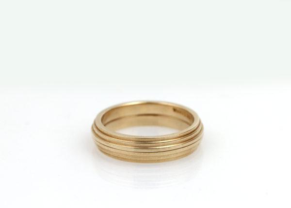 Modern 14K Yellow Gold Ring Guards