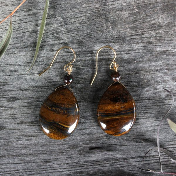 Arte*Vitta Tiger Iron and Boulder Opal Earrings