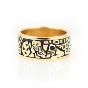"14K Yellow Gold ""Kiss"" Ring"