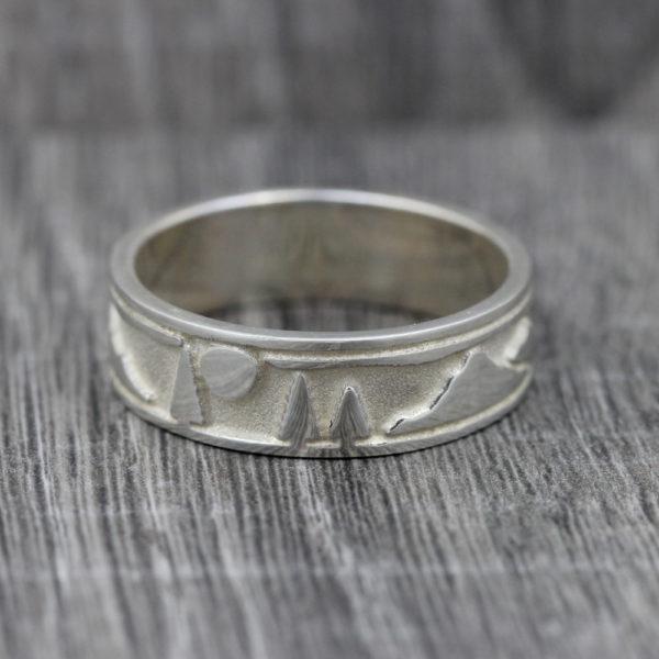 Sterling Silver Landscape Ring