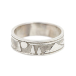 Sterling Silver Landscape Ring