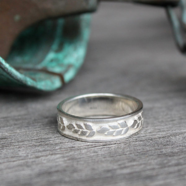 Sterling Silver Wheat Ring