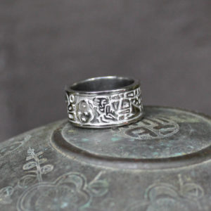"Palladium ""Kiss"" Ring"