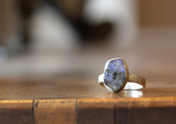 Barton Designs Sterling Silver Raw Labradorite Ring