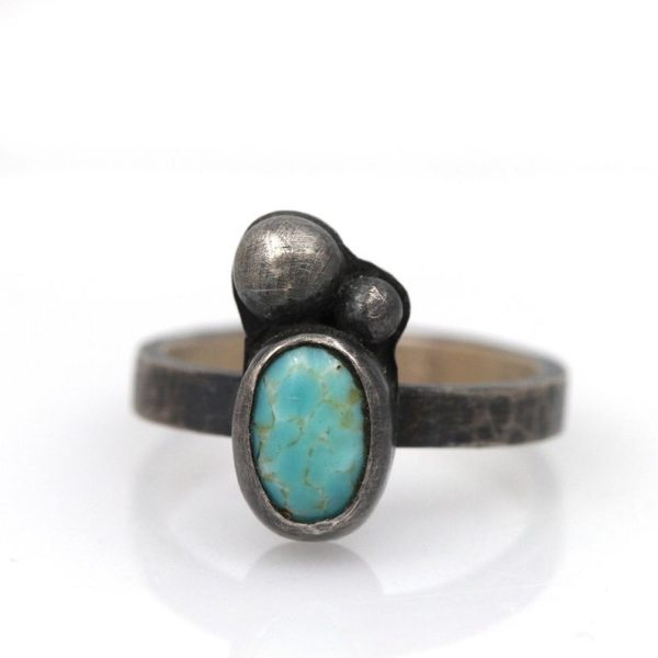 Natalie La Bruzzy Sterling Silver Oval Turquoise Ring