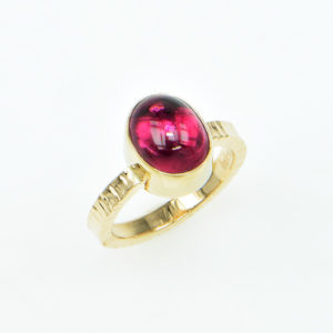 Baksa 14K Yellow Gold Rubellite Tourmaline Ring