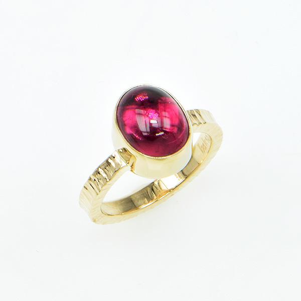 Baksa 14K Yellow Gold Rubellite Tourmaline Ring