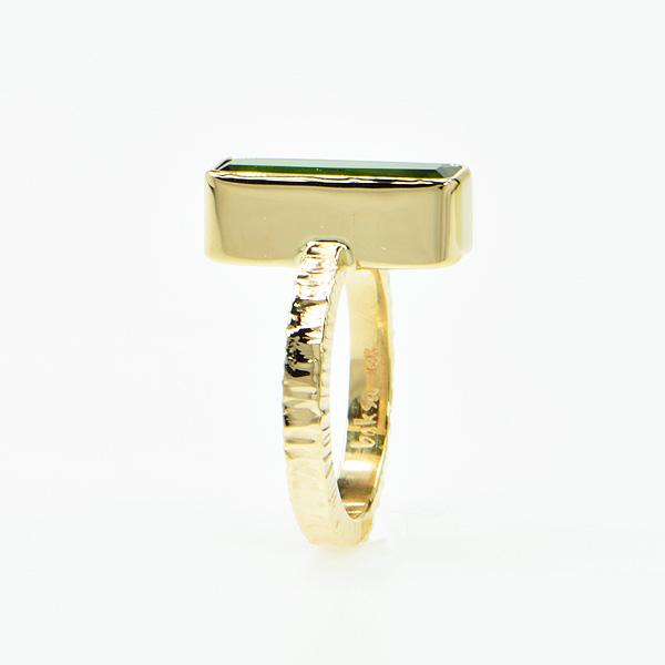 Baksa 14K Yellow Gold Green Tourmaline Ring