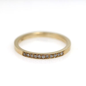"Arte*Vitta 14K Yellow Gold ""A Little Sweet"" Diamond Band"