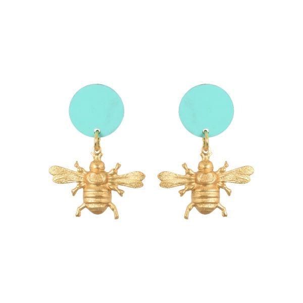 """We Dream in Colour Brass """"Little Minoa"""" Earrings"""