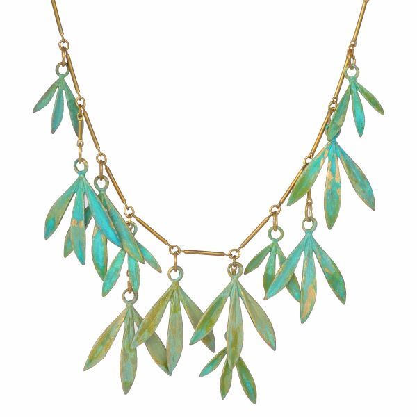 """We Dream in Colour Brass """"Bamboo"""" Necklace"""