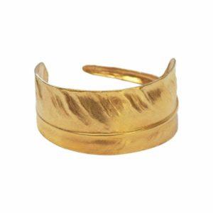 We Dream in Colour Brass Feather Cuff