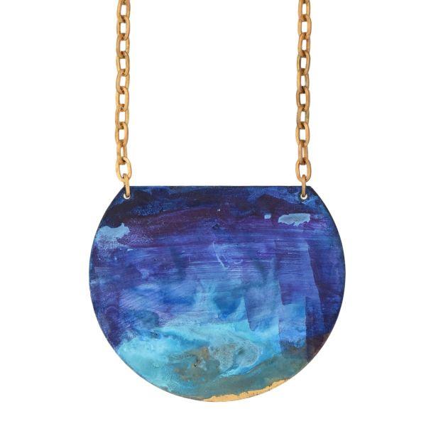 "We Dream in Colour Brass ""Lazuli"" Necklace"