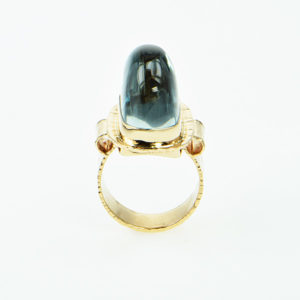 Baksa 14K Yellow Gold Blue Topaz Ring