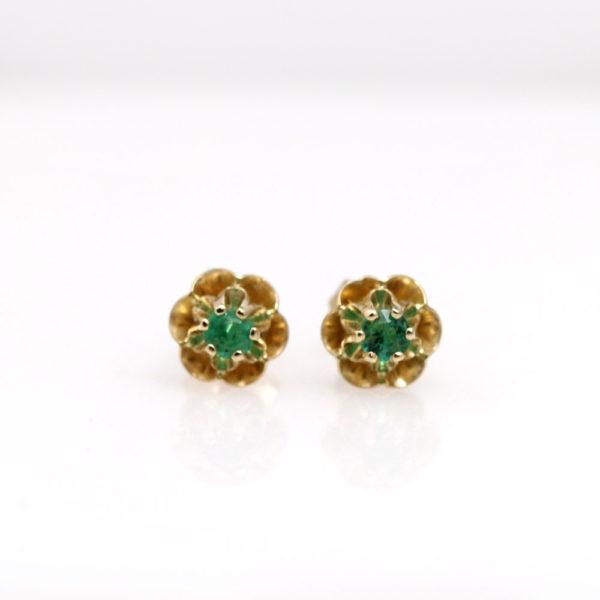 Arte*Vitta 14K Yellow Gold & Emerald Buttercup Studs
