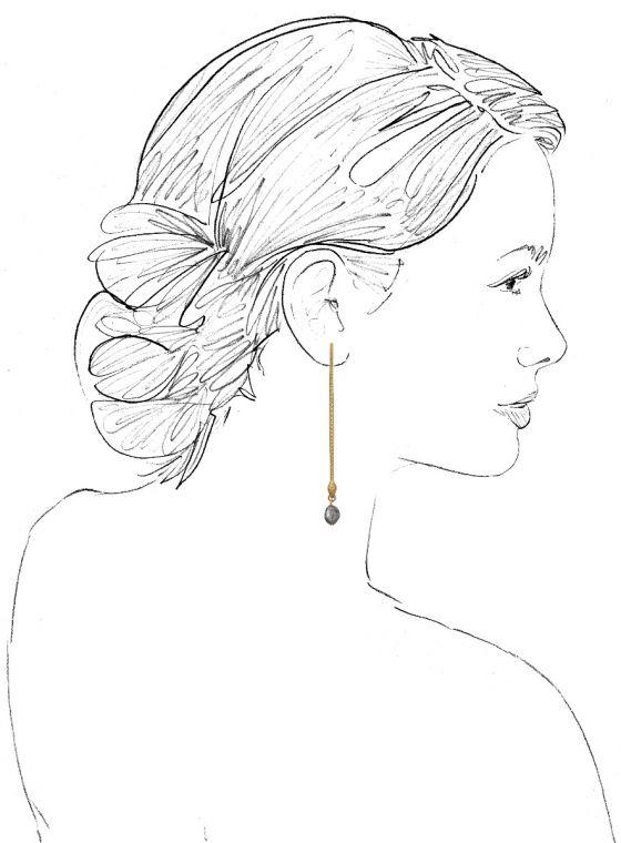 "We Dream in Colour Brass ""Naya"" Labradorite Earrings"