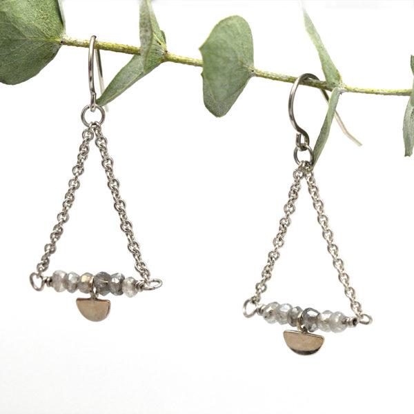 Sterling Silver Labradorite Dangle Earrings