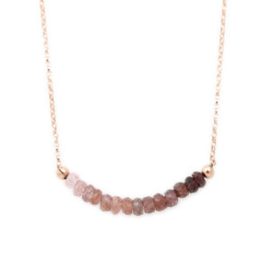 Rose Gold Filled Pink Spinel Gradient Necklace