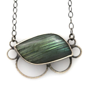 "Natalie La Bruzzy Sterling Silver Labradorite ""Bloom"" Necklace"