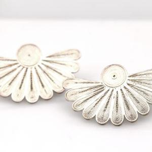 "Muxi Silver Filigree ""Sunrise"" Earrings"