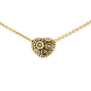 Alex Sepkus 18K Yellow Gold Diamond Heart Necklace