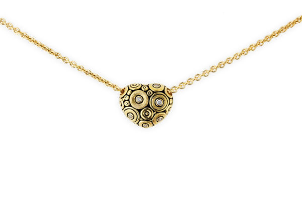 Alex Sepkus 18K Yellow Gold Diamond Heart Necklace