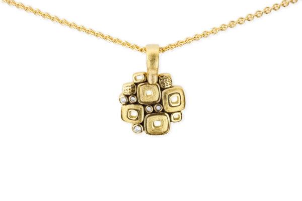 "Alex Sepkus 18K Yellow Gold + Diamond ""Little Windows"" Pendant"