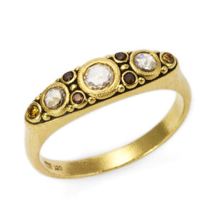 "Alex Sepkus Natural Colored Diamond ""Victorian"" Ring"