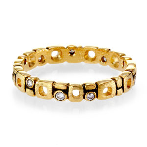 "Alex Sepkus 18K Yellow Gold Diamond ""Micro Windows"" Eternity Band"