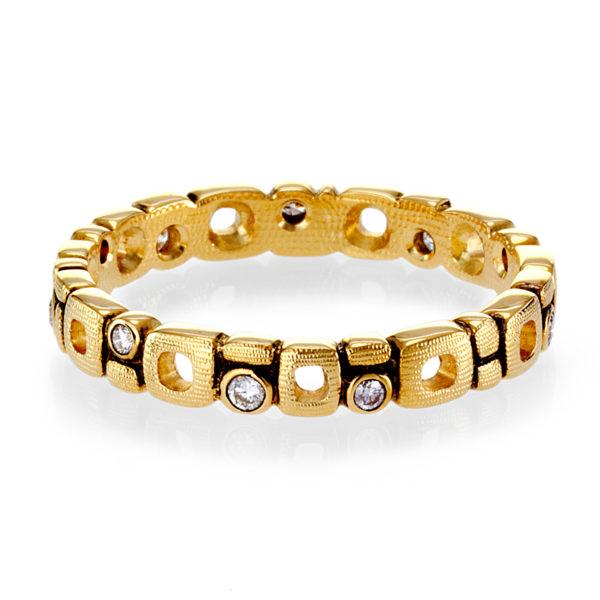 "Alex Sepkus 18K Yellow Gold Diamond ""Micro Windows"" Eternity Band"