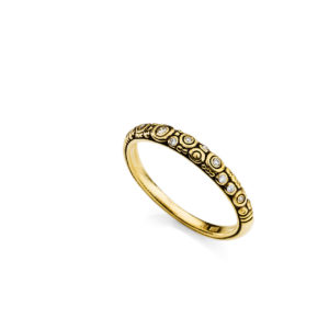 "Alex Sepkus 18K Yellow Gold Diamond ""Circles"" Anniversary Band"