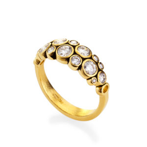 "Alex Sepkus 18K Yellow Gold Diamond ""Dome"" Ring"