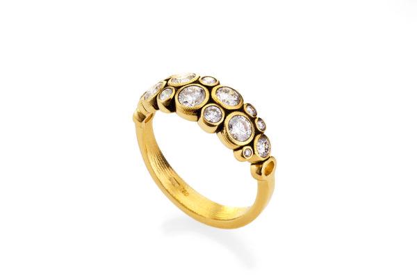 "Alex Sepkus 18K Yellow Gold Diamond ""Dome"" Ring"