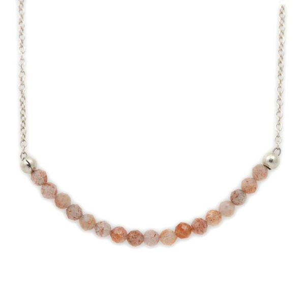 Sterling Silver Sunstone Necklace