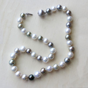 Arte*Vitta Natural Color South Sea & Tahitian Pearl Strand with a 14K White Gold Clasp
