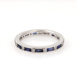 Arte*Vitta 14K White Gold Diamond & Sapphire Eternity Band