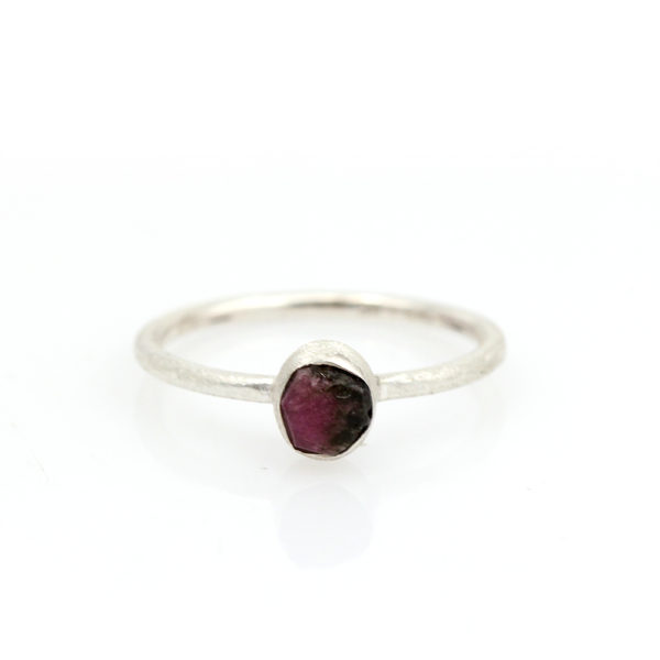Barton Designs Sterling Silver Raw Tourmaline Ring