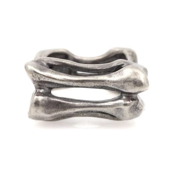 "Susan Fauman Sterling Silver ""Bones"" Ring"