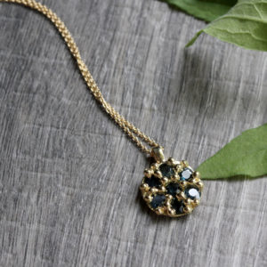 "Rebecka Fröberg 18K Gold & Sapphire ""Circle"" Necklace"