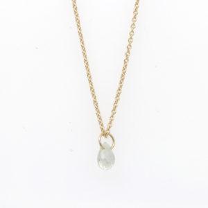 "Rebecka Fröberg 14K Yellow Gold Green Sapphire ""Tiny Constellation"" Necklace"