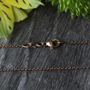 """14K Rose Gold 16"""" Cable Chain"""