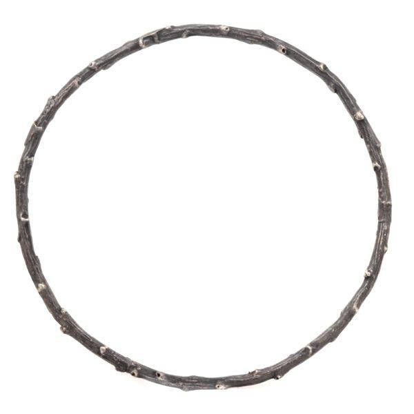 "Pippa Jayne Designs Oxidized Sterling Silver ""Signature Twig"" Bangle"