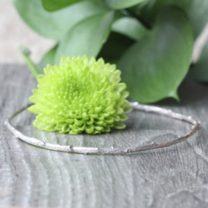 "Pippa Jayne Designs Sterling Silver ""Skinny Twig"" Bangle"