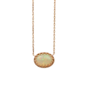 "14K Rose Gold Ethiopian Opal ""Crown"" Necklace"