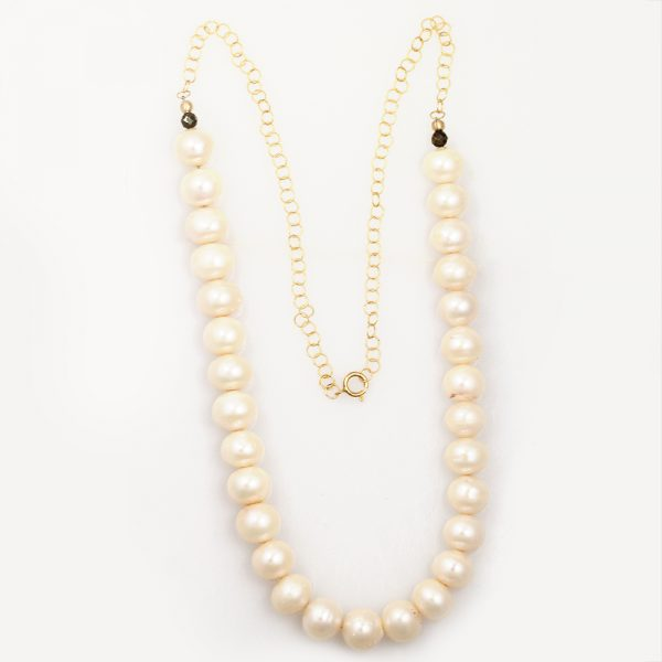 Natalie E.L. Zolg Freshwater Pearl and Pyrite Necklace