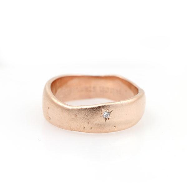 "Pippa Jayne Designs 14K Rose Gold Diamond ""Starry Night"" Band"