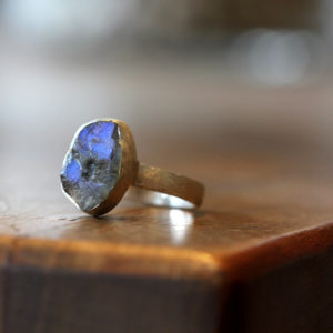 Barton Designs Sterling Silver Raw Labradorite Ring